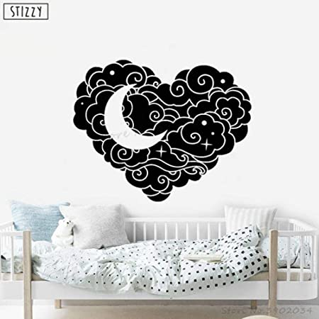 yaoxingfu Tatuajes de Pared Nube de Dibujos Animados Corazón ...