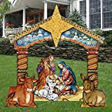 G.DeBrekht Christmas Nativity Set Wooden Free-Standing Outdoor Decoration FS8114030