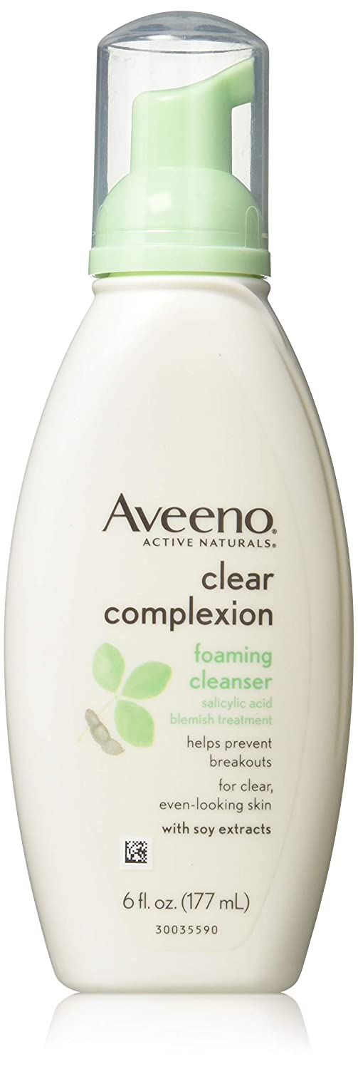Aveeno Clear Complexion Foaming Cleanser, 6-Ounce Bottles (Pack of 3)