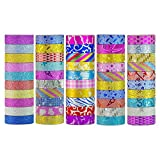 Washi Tape Set 50 Rolls Decorative DIY Tapes for Arts and Crafts Glitter Washi Masking Tape