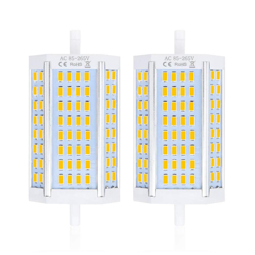 Bonlux No Regulable 25W J118 R7S 118MM LED Proyector Bombilla con 2500 Lúmenes 200 grados, Reemplazo de 200W Halógeno Bombilla (2-Unidades, ...
