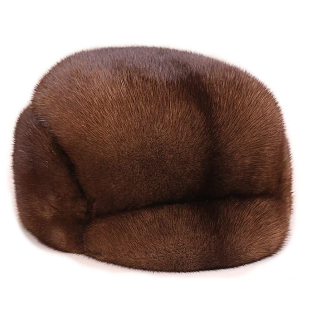 MH Bailment Women Winter Real Fur Cap Fox Fur Genuine Leather Hats Scarf Ear Protector Multicolor (S(54-56cm), Sapphire Blue)
