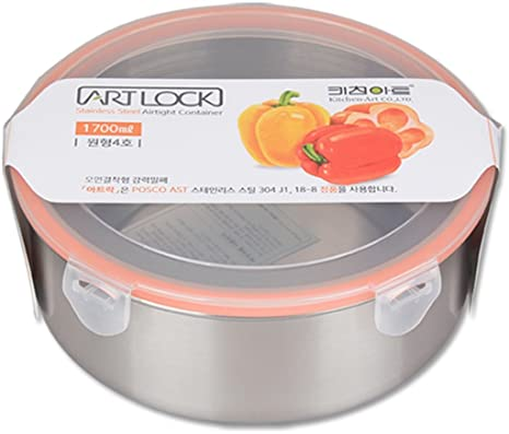 Amazoncom Stainless Steel Round Leakproof Airtight Kimchi Pickle