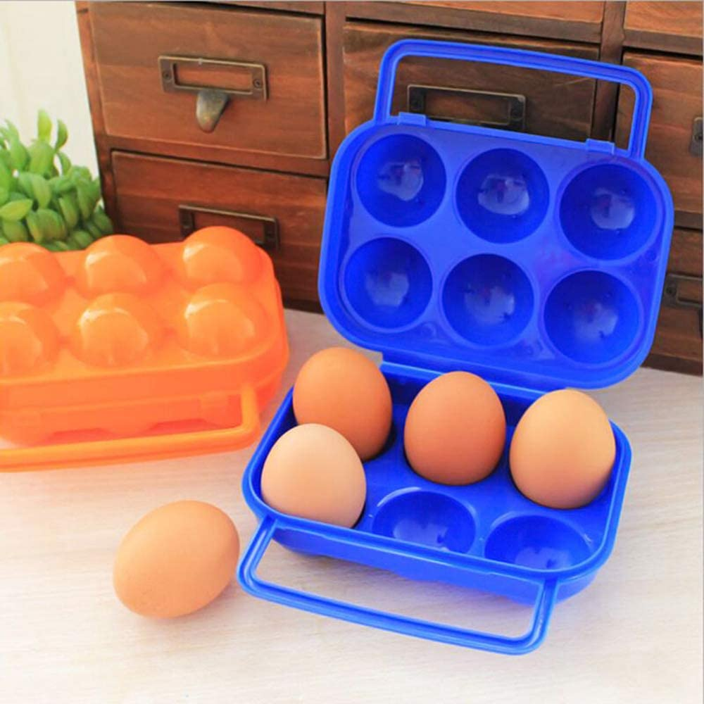 1 Woais Portable Picnic Tool Plastic Carrier Egg Box Egg Container Holder Camping Supply