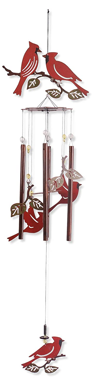 Sunset Vista Designs Garden Essentials Birds of a Feather Cardinals Wind Chime, 36-Inch Long 80427