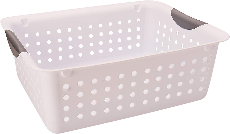 Sterilite 16248006 Superlatite Medium White Pack 2 Basket Ultra Excellence