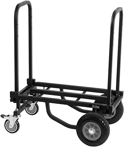 Amazon Com On Stage Utc2200 Folding Multi Cart Hand Truck Dolly With Expandable Telescoping Frame 485 Lb Load Capacity Musical Instruments
