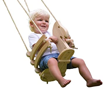 Amazon Com Ecotribe Wooden Horse Toddler Swing Set Smooth Birch