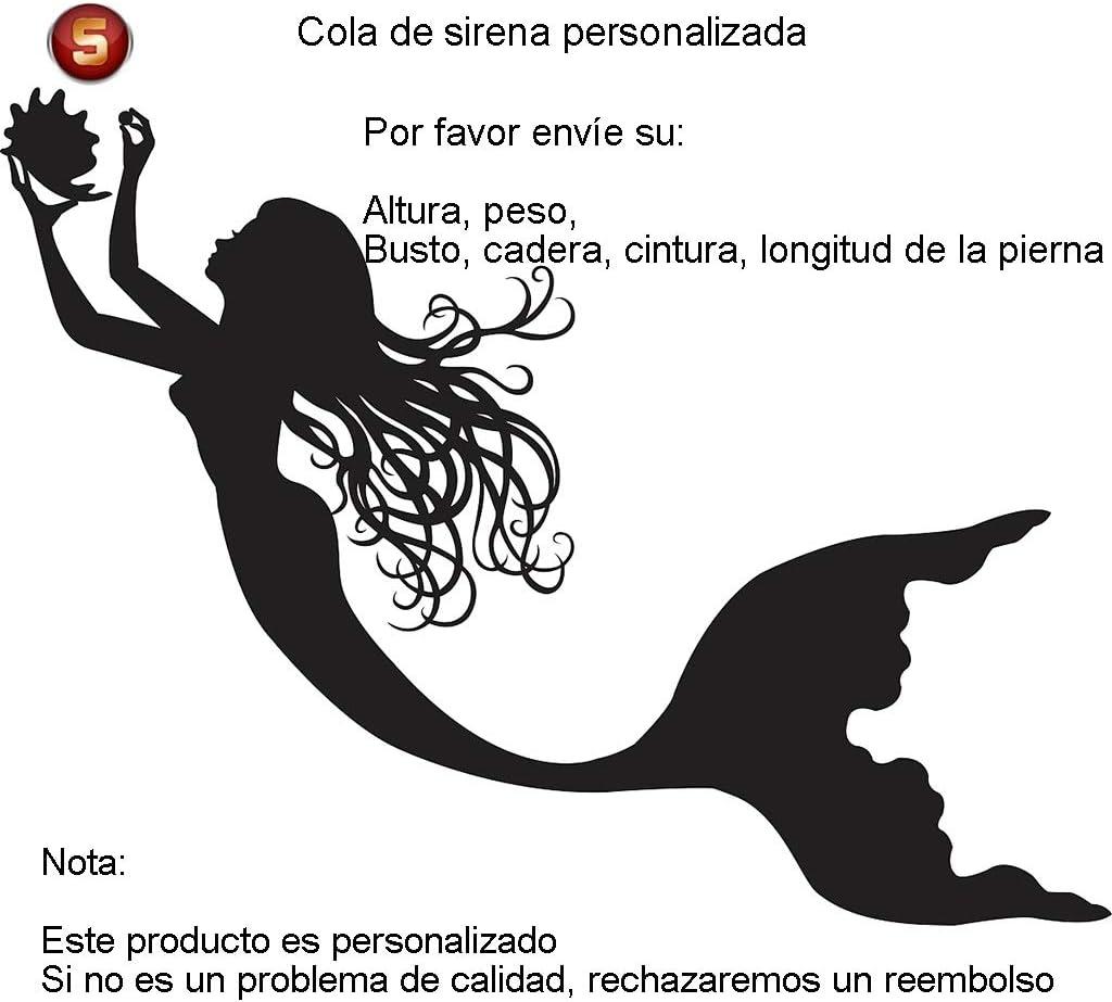 Traje De Bano Sirena Niñas,Adulto Disfraz De Sirena Princesa Cosplay Conjuntos Regalos para Chicas Style-R