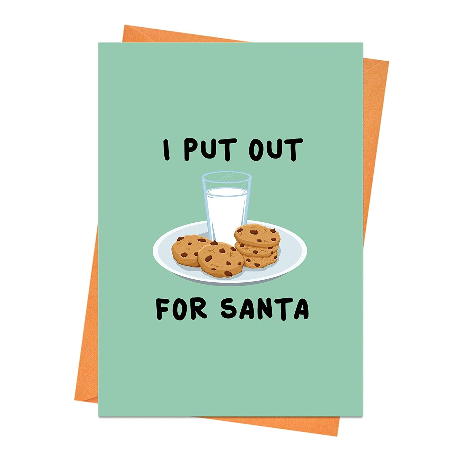 Funny Christmas Card, Funny Holiday Card, Naughty Christmas Card, Rude Christmas Card, Xmas Card, I Put Out For Santa Greeting Card