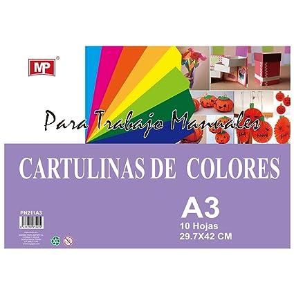 MP PN211-A3 - Pack de 10 cartulinas A3, 160 gr, multicolor