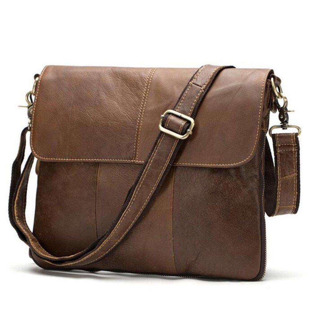Leather Bag Men Bag Handbag Luxury Male Crossbody Messenger Shoulder Bag Men Briefcase Satchel Matte Oil Brown