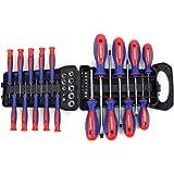 WORKPRO 45-Piece Screwdriver Set - Precision, Slotted & Phillips Screwdriver Kit Includes Bits, Sockets & Folding Rack - Magnetic Tip Keeps Bits Secure - Premium Tool Set