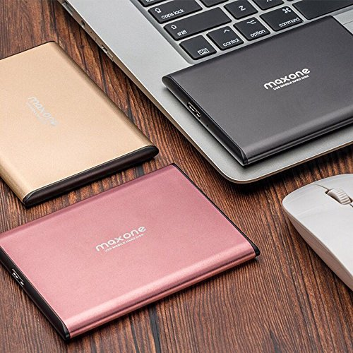 2.5'' Ultra Slim Portable External Hard Drive USB 3.0 for Laptop/Desktop (160GB, Charcoal Grey) by Maxone (Image #5)