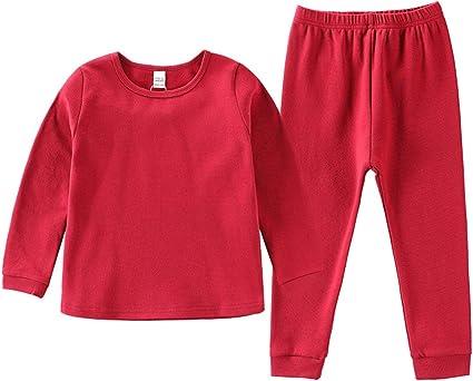 1-8 AñOs) Pijamas Infantiles En Color Liso Alta Calidad 100% AlgodóN Ropa Interior Ropa De Dormir Traje De Dos Piezas: Amazon.es: Belleza