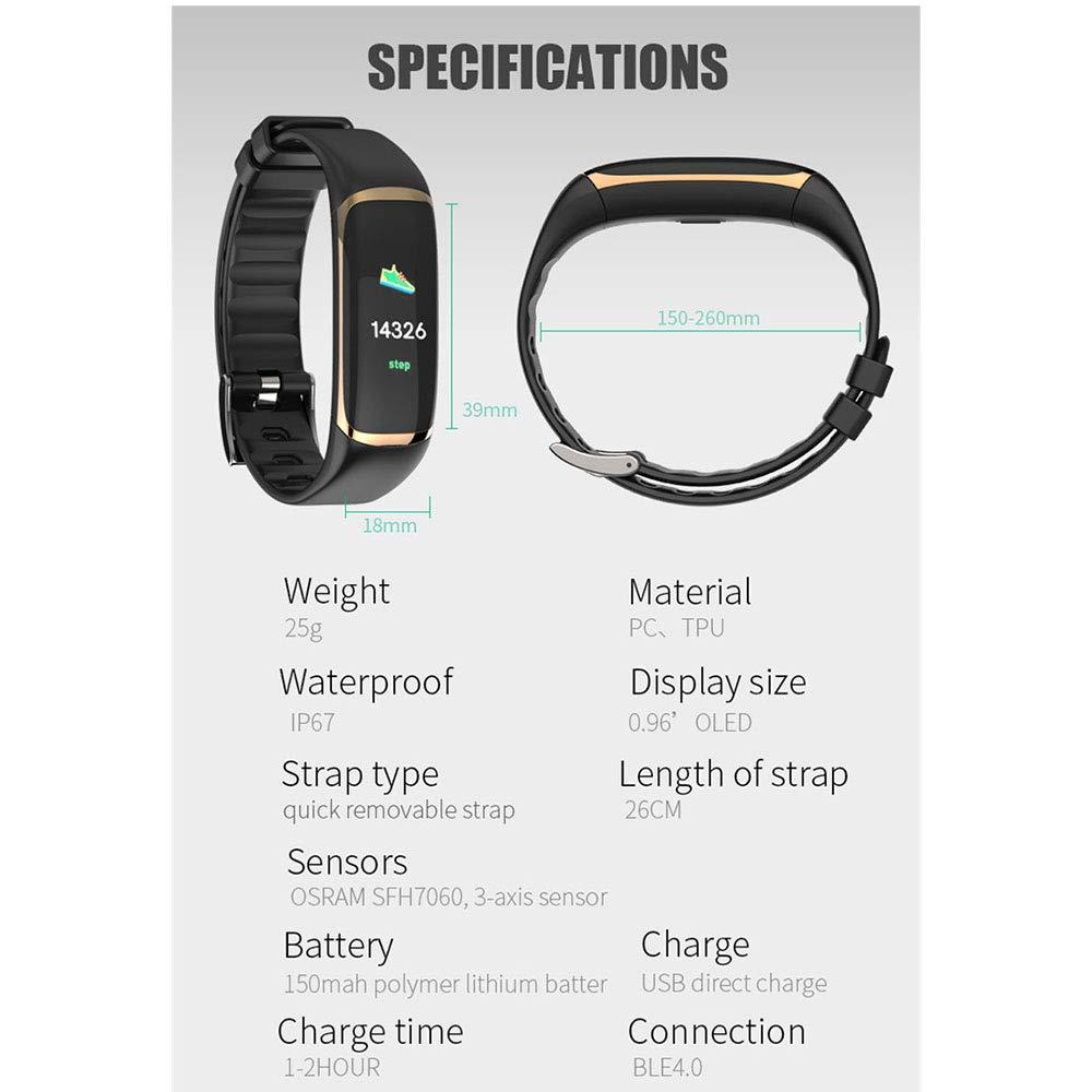 Amazon.com: LXYLQ Fitness Tracker, Smart Wristbands IP67 Waterproof ...