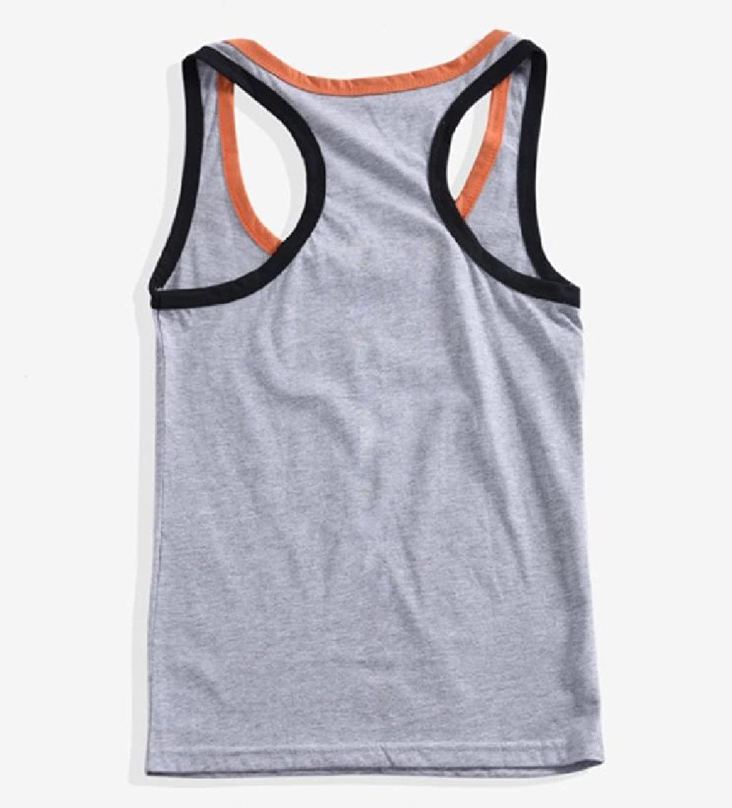 Whitive Mens Simple for Fitness Sports Absorb Sweat Basic Vest Tank Top