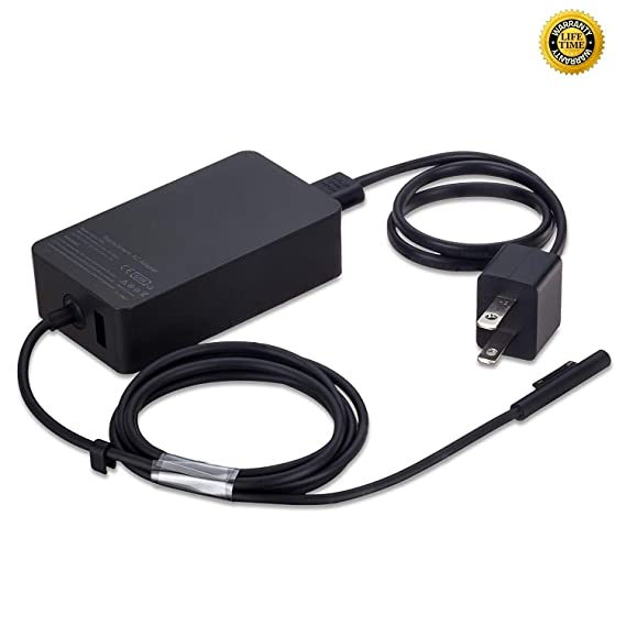 GSNOW 65W 15V 4A AC Power Adapter Charger for Microsoft Surface Book Surface Pro 3 Pro 4 Pro 5 Pro 6 Surface Go Surface Laptop 2 with USB Charging ...