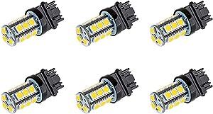 Makergroup S8 3156 Wedge Base LED Light Bulb 12V Low Voltage 3Watt Cool White 6000K for Outdoor Landscape Lighting and RV Vehicle Automotive Lights 6-Pack