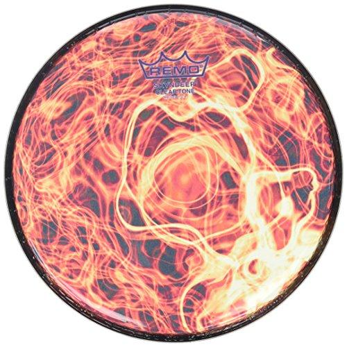 (Remo DX-Series Skyndeep Clear Tone Doumbek Darbuka Sombaty Size Drumhead - Orange Mist  Graphic 9'')