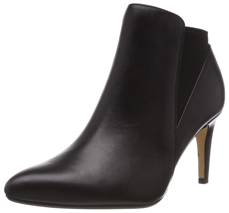 schwarz (schwarz Leather -) Clarks Laina lila, Botines para damen