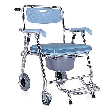HSRG Bath Chair Silla con WC Inodoro Plegable, con Tapa, Conteras ...