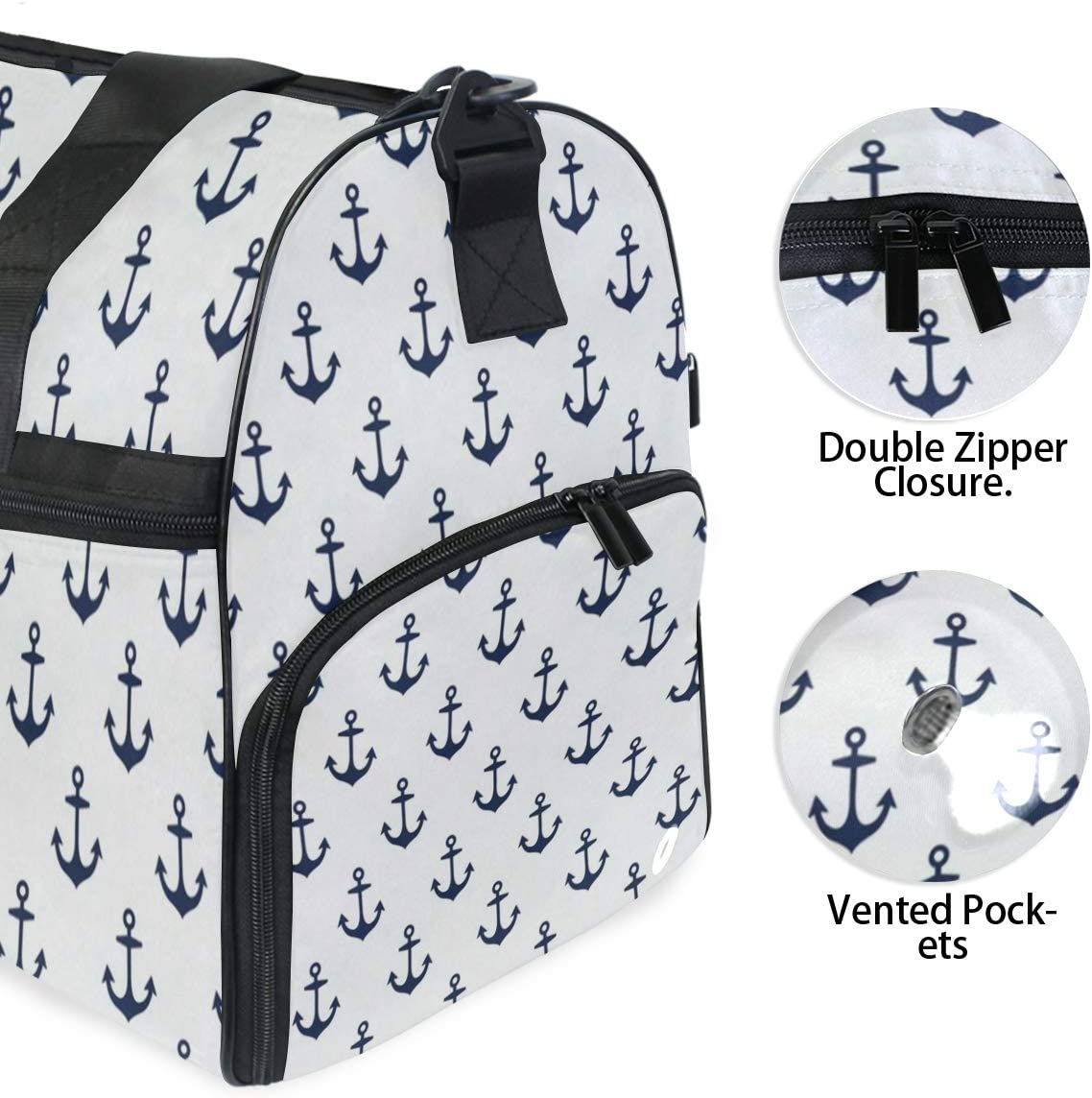 Blue Sea Sports Gym Bag with Shoes Compartment Travel Duffel Bag for Men Women