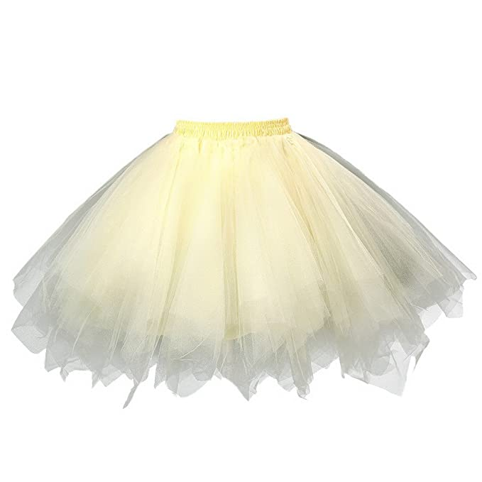 FEOYA Adultos Mujer Mini Falda de Tul Tutú Princesas para Ballet Fiesta Danza Fotografía Disfraz Skirt