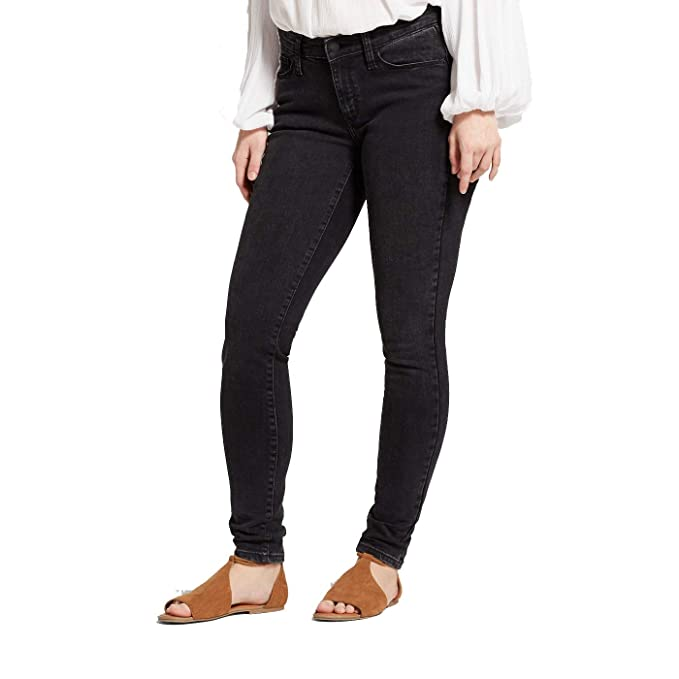 15f32eda Image Unavailable. Image not available for. Color: Universal Thread Women's  Mid-Rise Curvy Skinny Jeans - Galaxy Black ...
