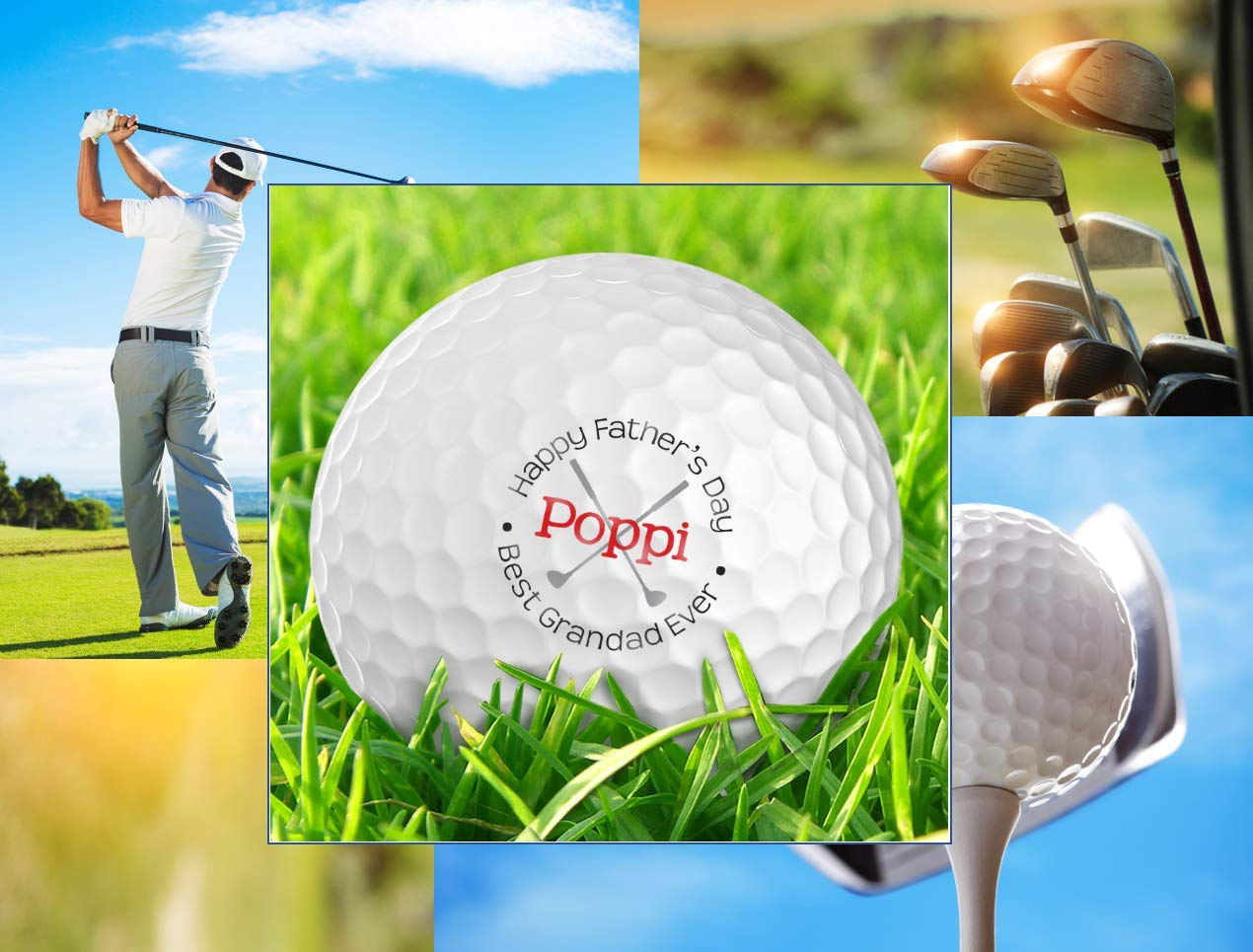 Infusion Father's Day Best Grandad Ever Golf Balls - Personalize The Name (12 Balls)