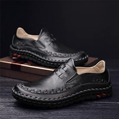 Shoes Mens Casual Shoes Flat Loafers Outdoor Exercise Sneakers Comfort Driving Shoes (Color : Brown Size : 41)