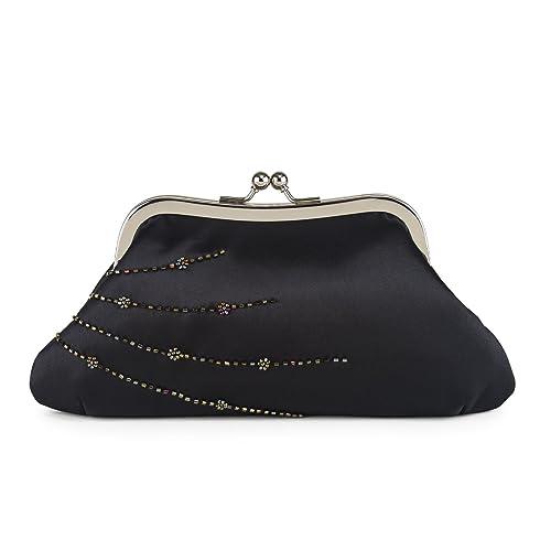 5894feb06f7 Amazon.com: Farfalla Womens 90560 Clutch Black: Shoes