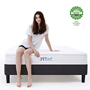 Sunrising Bedding 8 inch Natural Latex Hybrid Queen Mattress