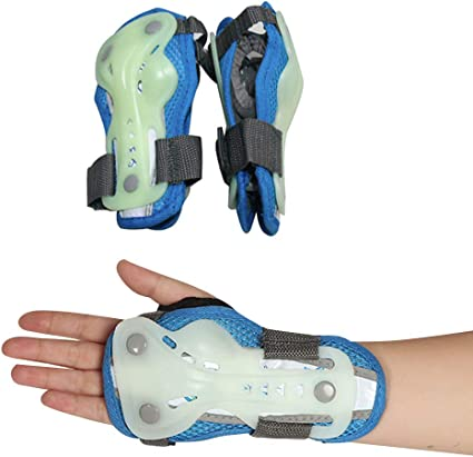 BLEVET Kit de Protection 6 pi/èces Polyvalent Genouill/ères Coude au Poignet Enfant pour Patinage /à roulettes Autres Sports extr/êmes MZ075