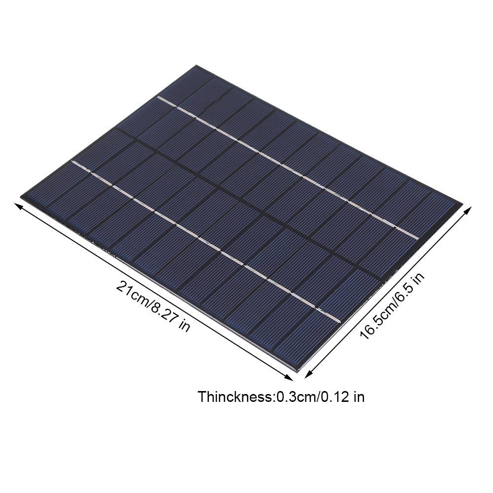 12 V 5.2 WPanneau Solaire Portable Polycristallin Kit Chargeur Module pour pour Automobile Moto Tracteur Bateau Batteries