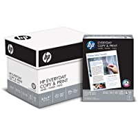 HP Printer Paper, Copy and Print20, 8.5 x 11, Letter, 20lb, 92 Bright, 2,400 Sheets / 6 Ream Carton (200010C) Made In The USA