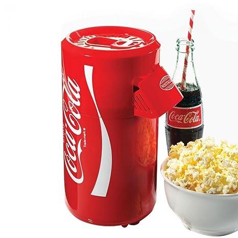 Nostalgia Coca-Cola Hot Air Popcorn Maker Retro Coke Countertop Size