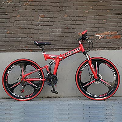 YEARLY Mountain Folding Bikes, Adults Folding Bicycles 21 Speed Student Gift Foldable Bikes