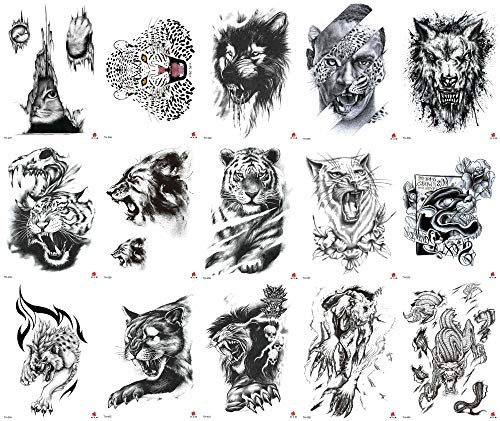 12 Sheets Halloween Tiger Wolf Animals 8.25