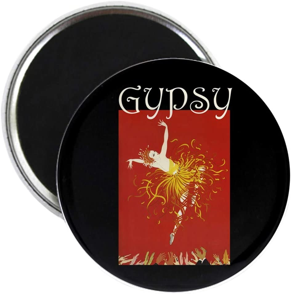 """CafePress Gypsy 2.25"""" Round Magnet, Refrigerator Magnet, Button Magnet Style"""