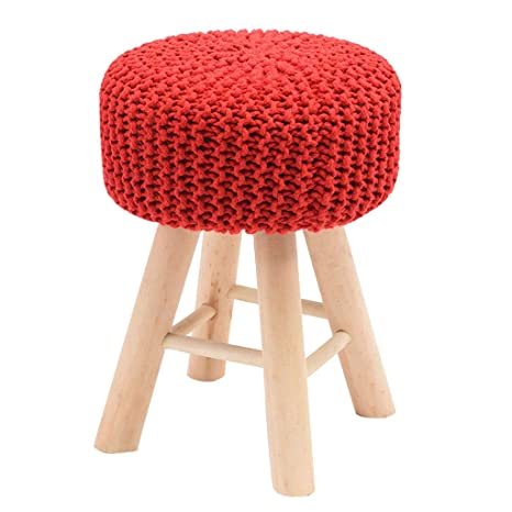 Outstanding Amazon Com Zcxbhd Upholstered Footstool Ottoman Pouffe Wool Pdpeps Interior Chair Design Pdpepsorg