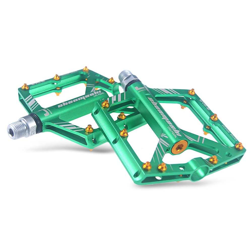 GREEN SMountain Bike Bearing Pedals for Fixed Gear Bicycle