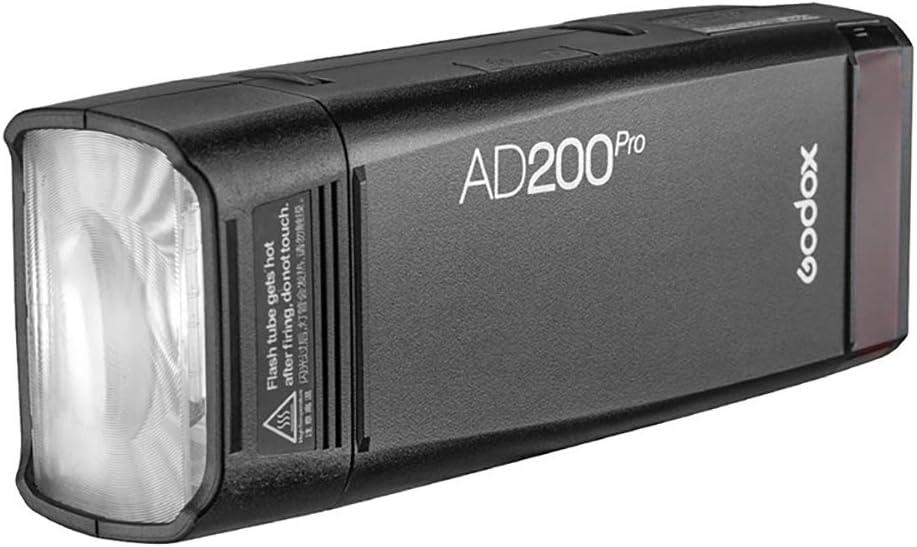 GODOX AD200Pro Godox AD200 PRO Version 1//8000 HSS 500 Full Power Flashes 200Ws 2.4G Flash Strobe 2900mAh Battery Godox X2T-C TTL Wireless Flash Trigger for Canon 0.01-1.8s Recycling
