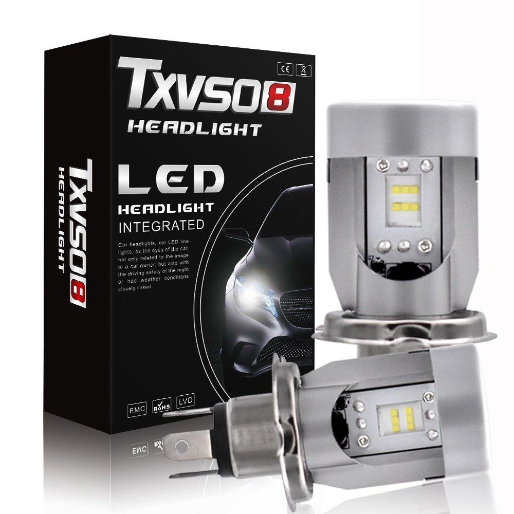 YJiaJu Car Led, Headlight Lamp H4 DC12V 24V Flip Chip 6000K WhiteLight Kit