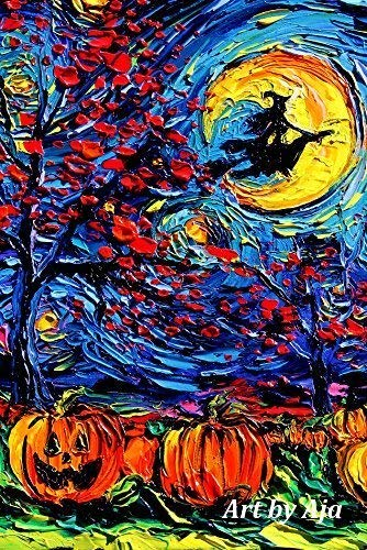 Amazon com: Halloween Starry Night Art - Vertical PRINT