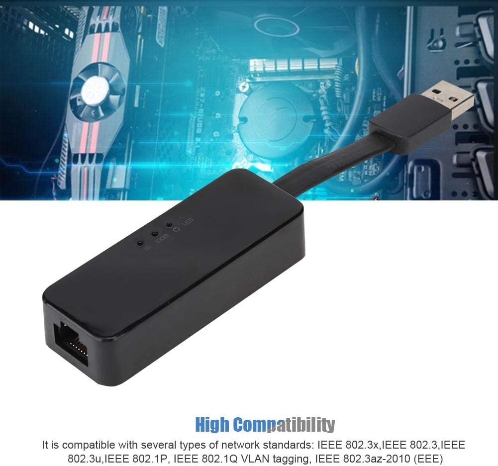 Gigabit USB Network Card,8153B Low Power Network Card,High Compatibility,Durable and Reliable,Gold Plated 25mm,for Realtek ASHATA Network Card