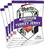 Oberto All-Natural Teriyaki Turkey Jerky, 3.25 Ounce (Pack of 4)