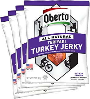 product image for Oberto All-Natural Teriyaki Turkey Jerky, 3.25 Ounce (Pack of 4)