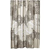 MSV Polyester Shower Curtain 180X200CM Brown Sunshade