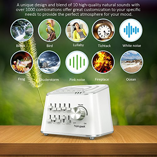 Nature Sounds Sound Machine,Sleep Machine with Volume and Timer Function